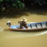 pescatore di granchi nel Delta do Parnaiba