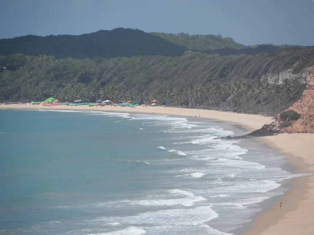 la spiaggia do Madeiro in Brasile vicino a praia do Pipa