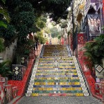 la famosa scalinata artistica Selaron a Lapa Rio